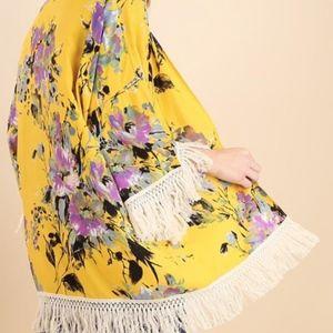 Umgee | Fifi Floral Fringe Kimono